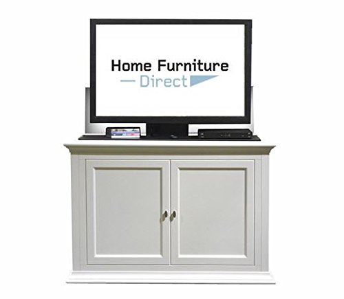 Touchstone Seaford White End of Bed 50 Degree Swivel TV Lift -