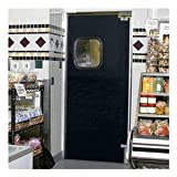 ALECO ImpacDor Light-Duty Traffic Doors - 6'0''Wx7'0''H - Double Door - Gray
