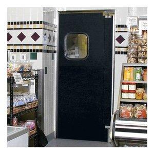 ALECO ImpacDor Light-Duty Traffic Doors - 6'0''Wx7'0''H - Double Door - Gray