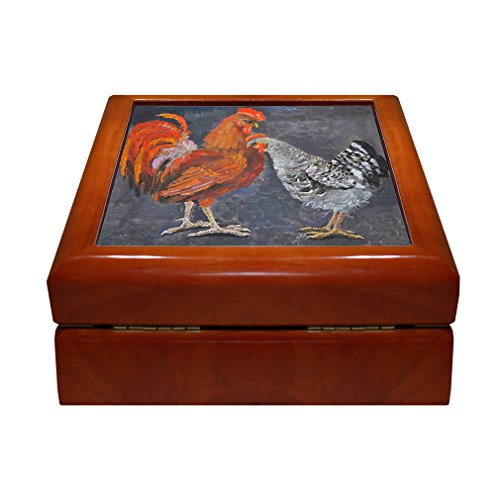 Standing Rooster Hen Painting Picture 4
