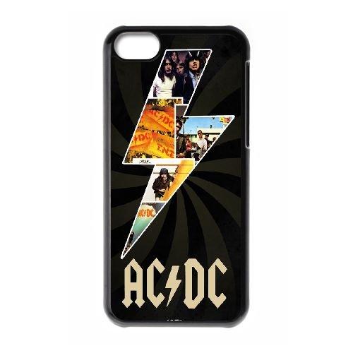 Musique Acdc de Thunder S Parallax HB14JW5 coque iPhone Téléphone cellulaire 5c cas coque O5HE0D3IV