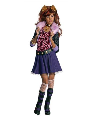 Rubies Girls Monster High Clawdeen Wolf Costume Dress Medium 8-10 -