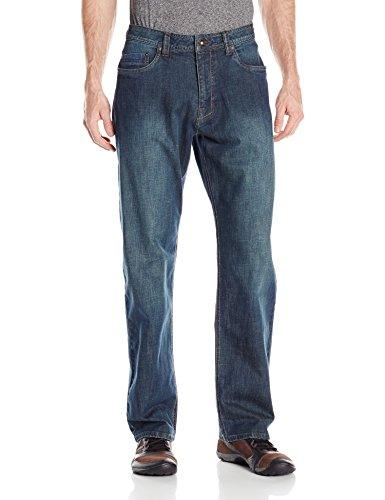 prAna Men's Rogan Relaxed Fit Jeans, Antique Stone Wash, Size 36