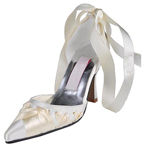 Minitoo , Damen Pumps White-9cm Heel