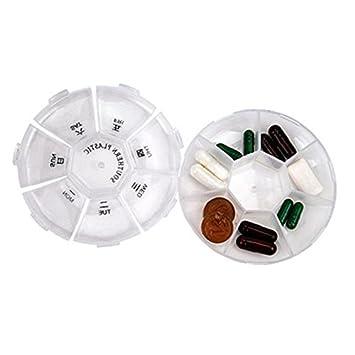 Generic portátil 7 días Medical Kit transpat entre semana Medicina Drogas Organizador de almacenamiento Caja respetuoso con el medio ambiente PP plástico: ...