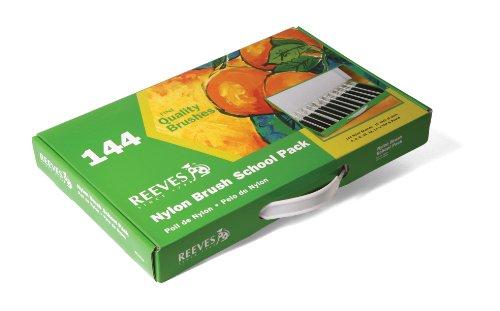 Reeves 144 Nylon Brushes School Pack