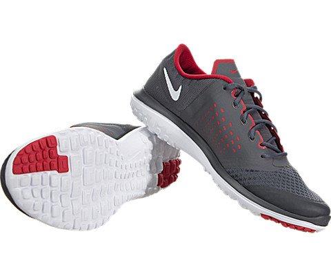 NIKE Men's FS Lite 2 Running Shoe, Anthracite/Total Orange/Wolf Grey, 10  D(M) US