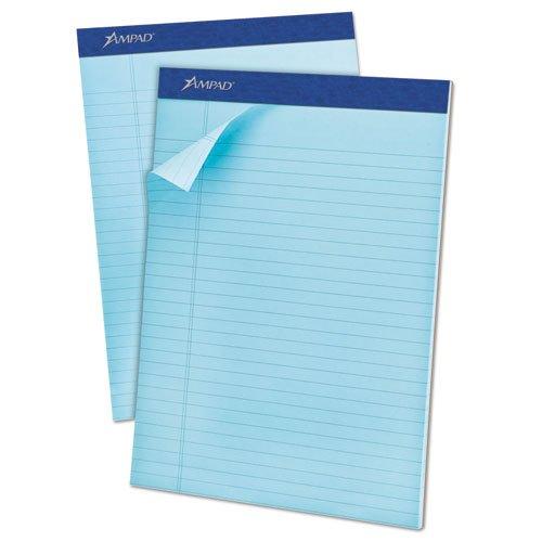 Ampad - Pastels Pads, Legal/Legal Rule, Letter, Blue, 50-Sheet Pads, Dozen 20-670 (DMi DZ