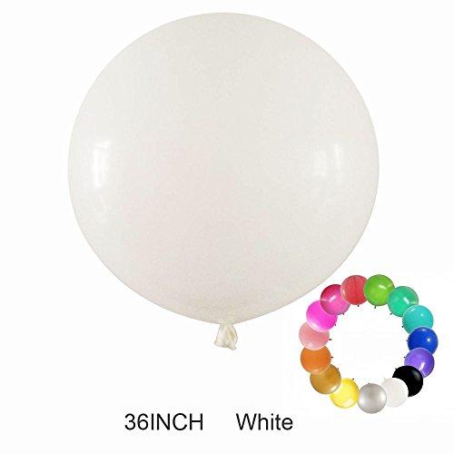 Besttt-Seller 2 pcs--36 Inch Round Balloons Latex Balloons / Wedding/Birthday Party Decorations/Photo Shoot/Festivals Christmas Decorations (White)]()