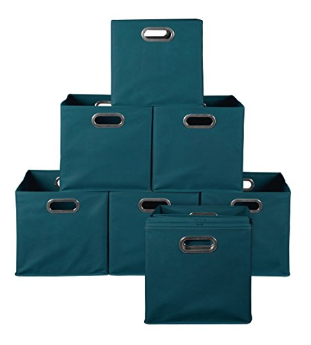 Set of 6 Natural Niche Cubo Foldable Fabric Storage Bin
