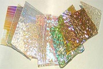 1 Lb Dichromagic Jeweler's Scrap Dichroic Glass Coe90 Fusible Clear DC108 (Fusible Film)