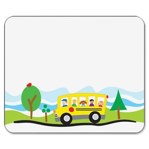 Wholesale CASE of 25 - Carson Self-Adhesive School Bus Name Tags-Name Tags, School Bus, 3''x2-1/2'', 40/PK