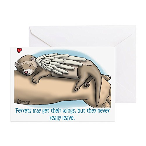 CafePress - Winged Ferret - Greeting Card, Note Card, Birthday Card, Blank Inside Glossy
