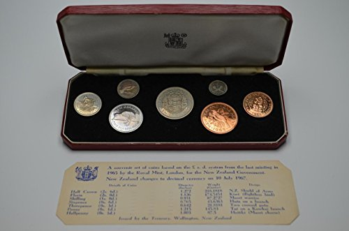 NZ 1965 Annual Proof Coin Set - Last Pre-decimal [Ballot Set] Uncirculated