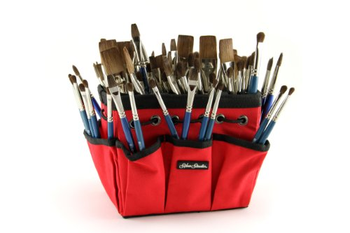 Silver Brush CP-5390S Camel's Short handle Class Pack Hair Assortment with Red Petite Tote, 193 Per Pack by Silver Brush Limited