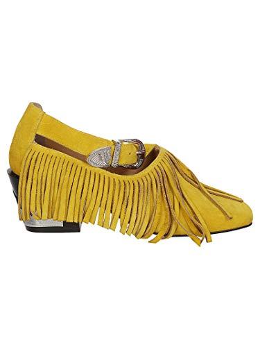 Pulla Jaune Femme Chaussures Talons Toga À Aj937yellow Suède 7wdfnxxqt