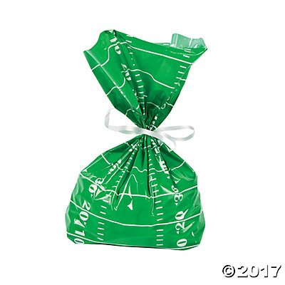 Football Field Cellophane Bags (12 pieces) ()
