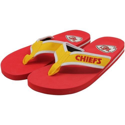 NFL Kansas City Chiefs Contoured Flip Flops - Red/Gold (10/11) by Football Fanatics