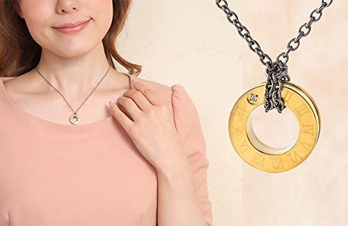 (Magnetic Therapy Titanium Necklace Shoulder Pain Relief for Headaches and Shoulder Pure Loop Oz Ring 45cm Color Gold Made in Japan)