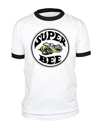 Super BEE - Officially Licensed Dodge - Cotton Black Ringer TEE, 2XL