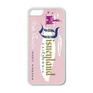 Customize Vintage Disneyland Ticket TPU Case For iphone 5c