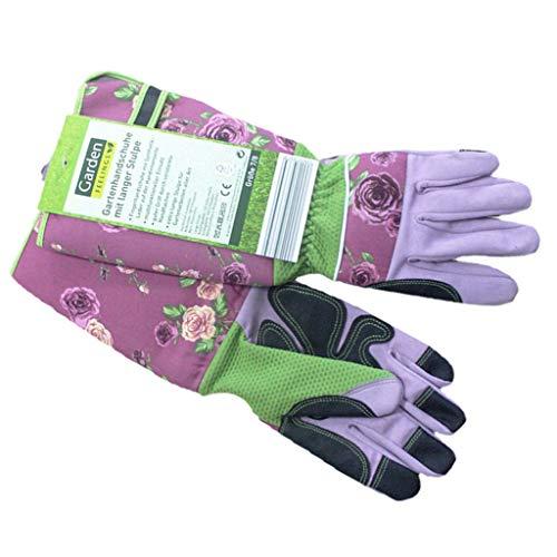 全2色 ロングカット耐性手袋 ガーデニング用手袋 安全 保護用 - ピンク