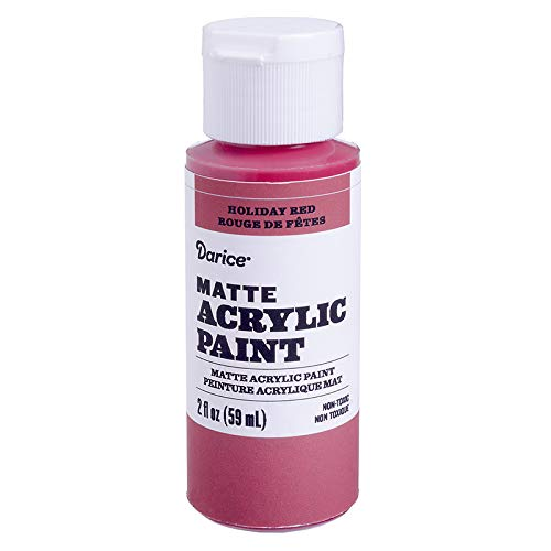 Darice DPCS135-63 Matte Holiday Red, 2 Ounces Acrylic Paint,