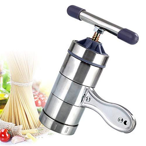 Máquinas para Pasta manuales Máquina de Pasta Manual de Acero Inoxidable para el hogar máquina de Hacer Pasta pequeña,...