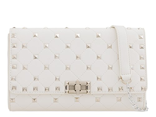Wedding Evening LeahWard 2167 Pearl Bag Handbags Women's Clutch Wedding Body White Cross qHwwSXYr