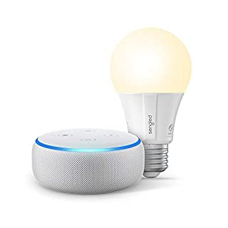 Echo Dot (3rd Gen) - Smart speaker with Alexa - Sandstone Sengled Bluetooth bulb (Certified for Humans product)
