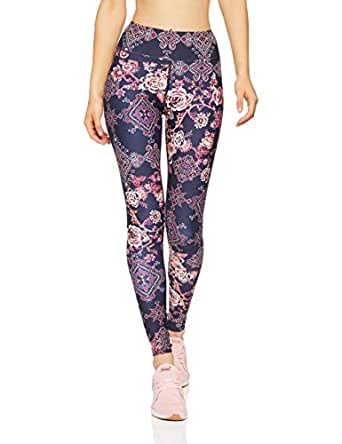 Dharma Bums Women's Wandering Spirit High Waist Printed Legging - Full Length, Multicoloured, Extra Small
