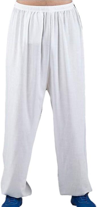 Pantalones de Lino de algodón para Hombre/Mujer Pantalones de Tai Chi Kung Fu Pantalones de Linterna de Yoga Pantalones de Jogging Pantalones de práctica de Artes Marciales: Amazon.es: Ropa y accesorios