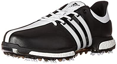 adidas Men's Tour 360 Boost WD Cblack Golf Shoe, Black, 12.5 W US