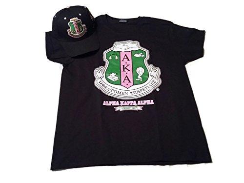Alpha Kappa Alpha Sorority T-Shirt with Cap Bundle - (2 Items)