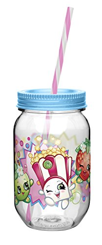 Zak! Designs Tritan Mason Jar Tumbler with Screw-on Lid and
