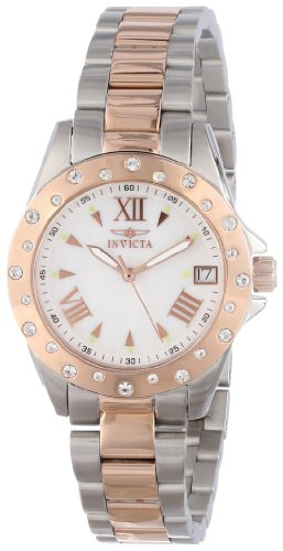 Invicta Women's 12856 Two Tone Swarovski Crystal Accented Mother of Pearl Dial (Swarovski Mop Dial)