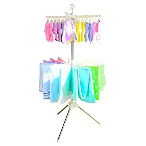 Amazon com baoyouni free standing towel rack baby clothes drying rack home amp kitchen