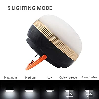 Portable Mini LED Camping Lantern,Ultra Bright Tent Lantern Light with Retractable Hook and 5 Light Modes for Camping,Tent,Emergency