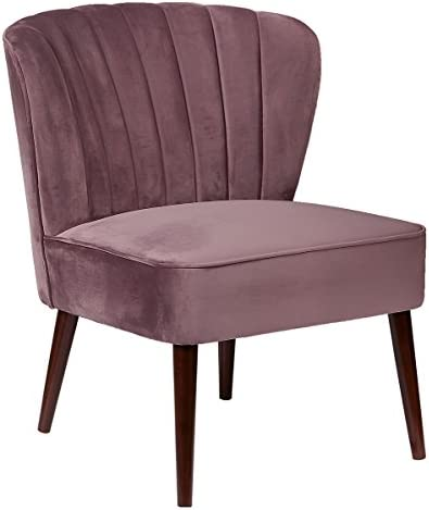 Pulaski Channeled Armless Accent Chair, Lilac