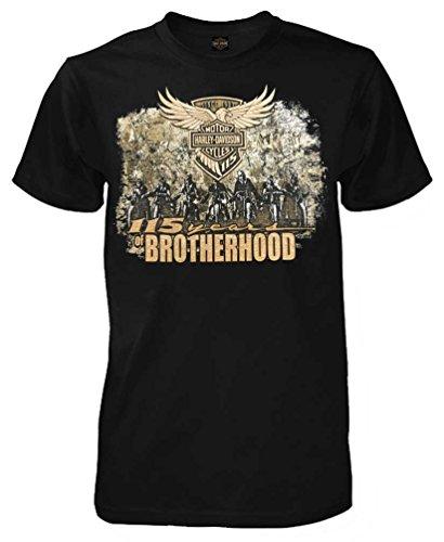 Anniversary Short Sleeve Tee - Harley-Davidson Men's 115th Anniversary Brotherhood Short Sleeve Tee, Black (XL)