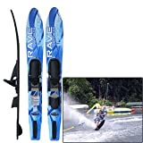 Rave Adult Rhyme Shaped Combo Water Skis (Blue)