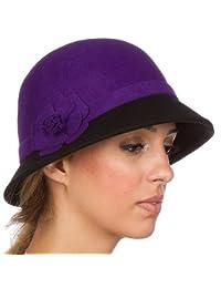 Sakkas Sophia Vintage Style Wool Cloche Hat
