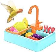 Souarts Electric Brinquedo de lava-louças para animais de estimação pássaros chuveiro papagaios automático de