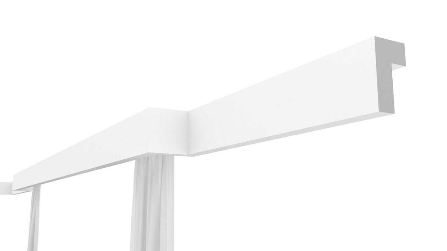 6, 180mm x 80mm XPS Polystyrene GK5 Curtain Rod Rail Cover COVING Moulding Wall Ceiling Decoration Lightweight Home Decor Interior Design Large Selection Best Prices Quality Product