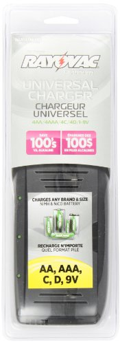 Rayovac Platinum AA/AAA/C/D/9V Universal Battery Charger