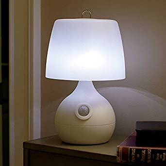 8 led motion sensor table lamp white - Led Motion Sensor Light