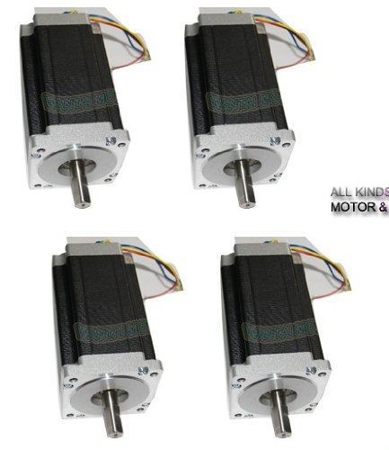 Gowe 4PCS 3D Printer CNC Nema 34 Dual Shafts stepper motor 1600OZ,3.5A,2ph, 85BYGH450C-012B by Gowegroup Stepper Motor