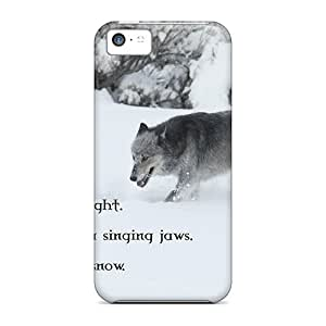 Anti-scratch And Shatterproof Wolf Wisdom Phone Cases For Iphone 5c/ High Quality Cases