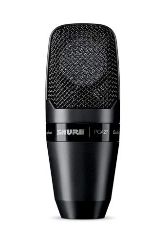 Shure PGA27-LC Large-Diaphragm Side-Address Cardioid Condenser Microphone with Shock-Mount and Carrying Case, No Cable
