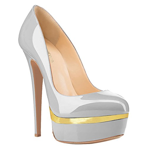 Grau MONICOCO Mujer Lackleder Gold Plataforma B7Tqwz